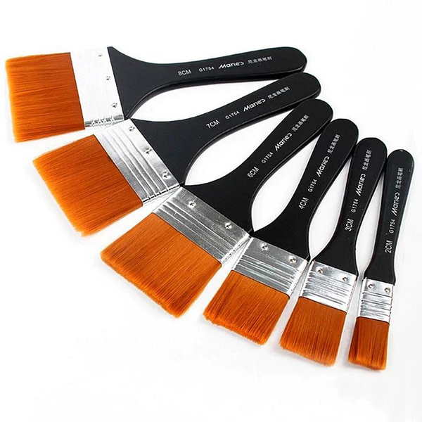 Maries Flat Wide Wash Brushes