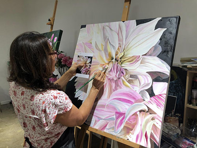 Tanya Williams Flower Painting