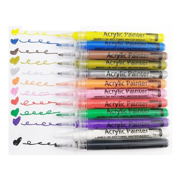 Acrylic Paint Markers Set 28 Fine Tip