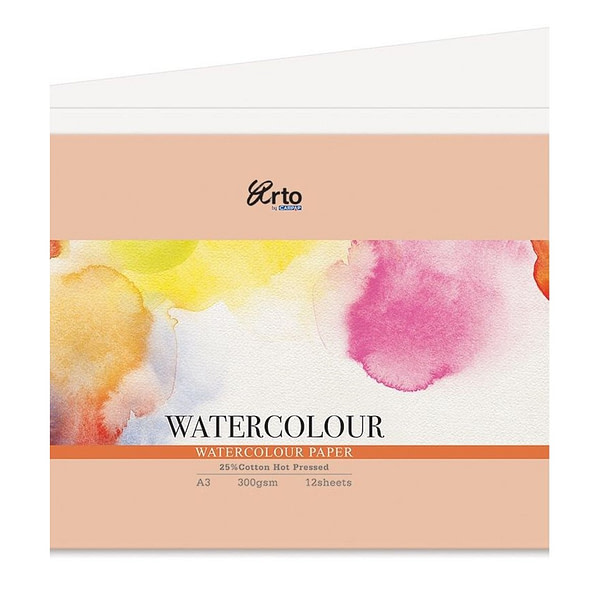 300gsm Hot Pressed Watercolour Paper A3 Sheet